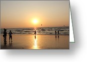 Arabian Photographs Greeting Cards - Goa sunset photography Greeting Card by Zoh Beny