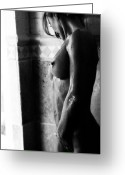 Naked Women Greeting Cards - Gocce Di Pioggia Greeting Card by Tonino Guzzo