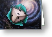 Dice Painting Greeting Cards - God does not play dice with the universe. EINSTEIN Greeting Card by Arley Blankenship