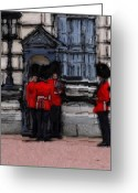 Guards Greeting Cards - God save the Queen Greeting Card by Stefan Kuhn