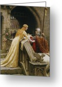 Scarf Greeting Cards - God Speed Greeting Card by Edmund Blair Leighton