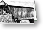 Value Greeting Cards - Goddard Covered Bridge Greeting Card by Kyle Gray
