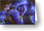 Iris Greeting Cards - Goddess Of Mystery Greeting Card by Carol Cavalaris
