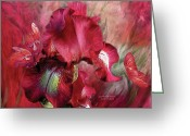 Romantic Art Greeting Cards - Goddess Of Passion Greeting Card by Carol Cavalaris