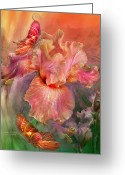 The Art Of Carol Cavalaris Greeting Cards - Goddess Of Spring Greeting Card by Carol Cavalaris