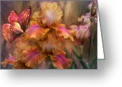 The Art Of Carol Cavalaris Greeting Cards - Goddess Of Sunrise Greeting Card by Carol Cavalaris
