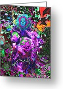 Fineartprint Greeting Cards - Goddess Of The Garden Of Earth Gaia Greeting Card by Rayofra Ra
