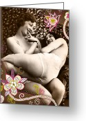 1930s Greeting Cards - Goddesses Greeting Card by Chris Andruskiewicz