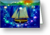 Smudgeart Greeting Cards - Godess Of The Sea Greeting Card by Madeline M Allen