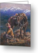 Riders Greeting Cards - Gods Country Greeting Card by Mia DeLode
