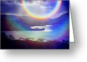 Sky Studio Greeting Cards - Gods Eye Greeting Card by Kevin Smith