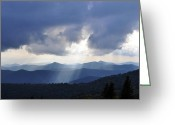 Cowee Greeting Cards - Gods Finger Greeting Card by Donnie Smith