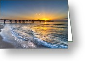 Florida Bridges Greeting Cards - Gods Glory Greeting Card by Debra and Dave Vanderlaan