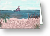 Exhibitionist Greeting Cards - Going deep into sail Greeting Card by Barbara Krebs