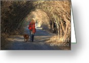 John Kolenberg Greeting Cards - Going For A Walk  The Photograph Greeting Card by John  Kolenberg
