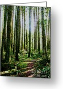 Impassioned Greeting Cards - Going Green Greeting Card by Dean Edwards