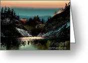 Arne J Hansen Greeting Cards - Going Home Greeting Card by Arne Hansen