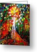 Games Painting Greeting Cards - Going Into The Light  Greeting Card by Artist  Singh