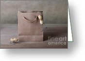 All-metal Greeting Cards - Going Shopping 03 Greeting Card by Nailia Schwarz