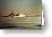 Fishermen Greeting Cards - Going to Work Greeting Card by Steven  Michael