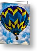 Balloon Greeting Cards - Going Up Greeting Card by Bob Orsillo