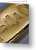 Valuable Greeting Cards - Gold Bullion Greeting Card by Ria Novosti