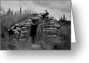 Dawson City Greeting Cards - Gold Rush Cabin - Yukon Greeting Card by Juergen Weiss