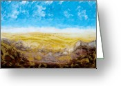 Gold Mountain Mixed Media Greeting Cards - Gold Valley Greeting Card by Paul Tokarski