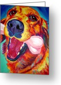 Dawgart Greeting Cards - Golden - My Favorite Bone Greeting Card by Alicia VanNoy Call