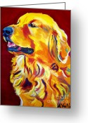Dawgart Greeting Cards - Golden - Scout Greeting Card by Alicia VanNoy Call