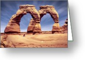 Red Rocks Greeting Cards - Golden Arches? Greeting Card by Mike McGlothlen