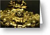 Sculpture Jewelry Greeting Cards - Golden Baby Greeting Card by Edan Chapman