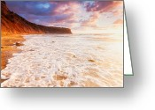 Evgeni Dinev Greeting Cards - Golden Bay Greeting Card by Evgeni Dinev