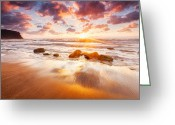 Evgeni Dinev Greeting Cards - Golden Beach Greeting Card by Evgeni Dinev