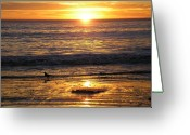 Sold Image Greeting Cards - Golden Beach Greeting Card by J Perez