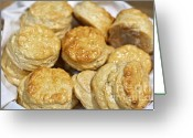 Golden Framed Prints Greeting Cards - Golden Biscuits Greeting Card by Loriannah Hespe