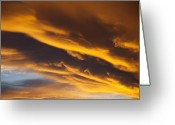 Romantic Greeting Cards - Golden clouds Greeting Card by Garry Gay