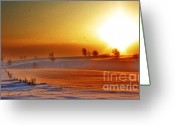 Sunny Days Greeting Cards - Golden Days Greeting Card by Julie Lueders