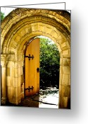 Washington Cathedral Greeting Cards - Golden Door Greeting Card by Marianne Beukema