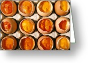 Portrait Reliefs Greeting Cards - Golden Eggs Greeting Card by Mark Cawood