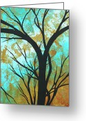 Huge Greeting Cards - Golden Fascination 4 Greeting Card by Megan Duncanson