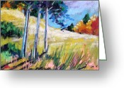 Colours Pastels Greeting Cards - Golden Fields Greeting Card by John  Williams