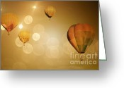 Baby Room Greeting Cards - Golden Flight Greeting Card by Andrea Hazel Ihlefeld