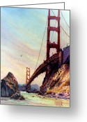 Marin Greeting Cards - Golden Gate Bridge Looking South Greeting Card by Donald Maier