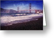 San Francisco Photo Greeting Cards - Golden Gate Greeting Card by Everet Regal