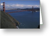 San Francisco Greeting Cards - Golden Gate from Marin Headlands Greeting Card by Stan and Anne Foster
