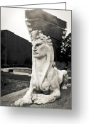 Golden Gate Park Greeting Cards - Golden Gate Sphinx Greeting Card by Anthony Citro