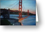 Golden Gate Painting Greeting Cards - Golden Gate Greeting Card by Travis Day