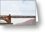 Highways Greeting Cards - Golden Gate Two Greeting Card by Brad Burns