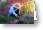 Hat Greeting Cards - Golden Light Greeting Card by Colleen Taylor